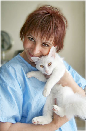 Svetlana - the best cat gromer with her beloved cat Kiara